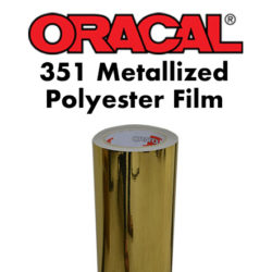 Oracal 351 Metallized Polyester Film Gold
