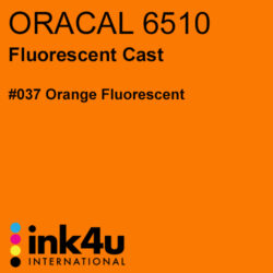 Oracal 6510 Fluorescent Cast Vinyl Orange 037