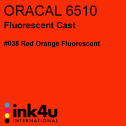Oracal 6510 Fluorescent Cast Vinyl Red Orange 038