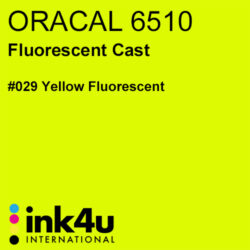 Oracal 6510 Fluorescent Cast Vinyl Yellow 029