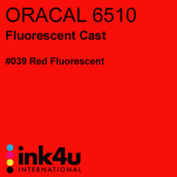 Oracal 6510 Fluorescent Cast Vinyl Red 039